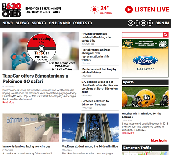 AM News Radio Site Redesign