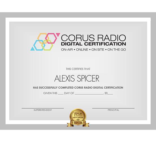 Corus Digital Certification Branding and Assets
