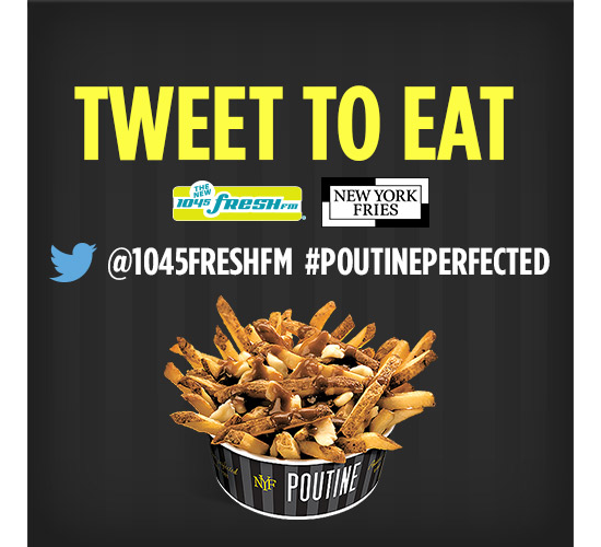 "Barrie Radio New York Fries ""Tweet to Eat"" Campaign"